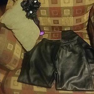 🛑👀😱 NWT lambskin leather pants Croft&Barrow